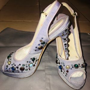 Brian Atwood Heels with Multicoloured Jewels